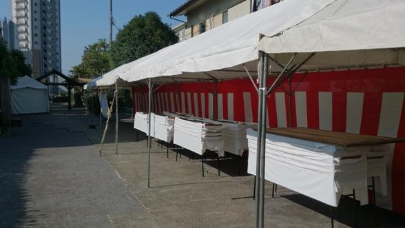 はなみずき:テント設置